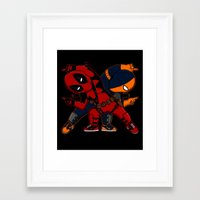deathstroke Framed Art Prints featuring WADE and SLADE by Betmac