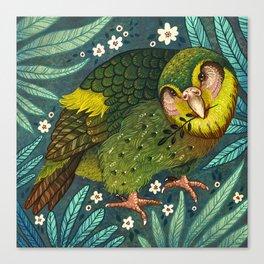 Kakapo Canvas Print
