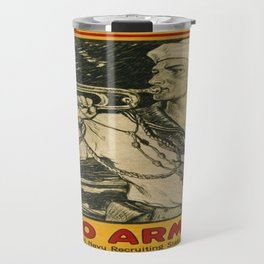 Vintage poster - Enlist in the Navy Travel Mug