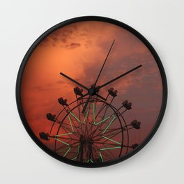 ferris wheel IV Wall Clock
