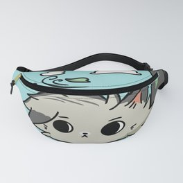 Blue sweater cat Fanny Pack