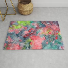 where poppies bloom Rug