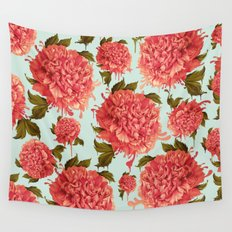 A Splash of Peony, A Dash of Color Wall Tapestry