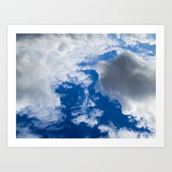 Clouds From Space Art Print
