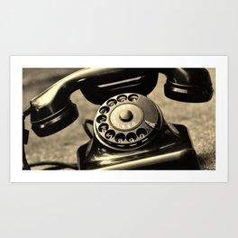 Vintage telephone Art Print