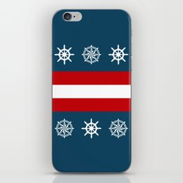 Compass and sailing wheel iPhone Skin
