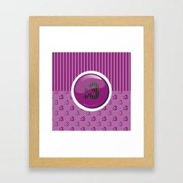Purple Writer's Mood Framed Art Print