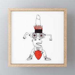 Strawberry love Framed Mini Art Print