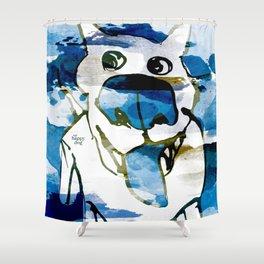Citydog summergrunge Shower Curtain