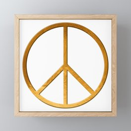 PEACE Symbol – 60th Birthday 21 Feb. 2018 Framed Mini Art Print