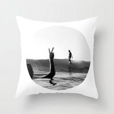 Surfing Days Throw Pillow