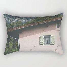 Pink Alpine House Rectangular Pillow