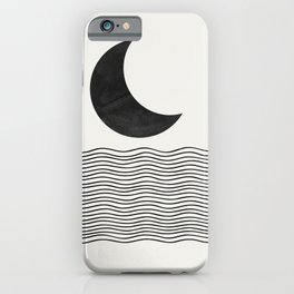 Modern Night, Moon by the Waves iPhone Case