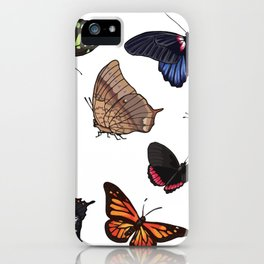 Butterfly Sticker Collection iPhone Case