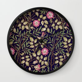 William Morris Sweet Briar Floral Art Nouveau Wall Clock