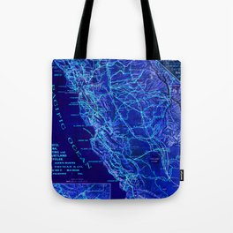 Blue California map, 1894. Tote Bag