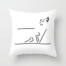 100 metre sprint athletics start Throw Pillow