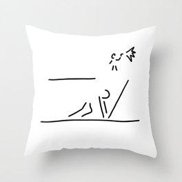 100 metre sprint athletics start Throw Pillow