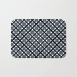 Black and blue tartan Bath Mat