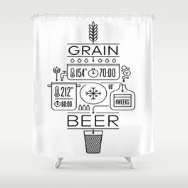 Beer Brewing Explained Shower Curtain
