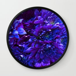 Electric Carnation Wall Clock