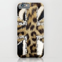 Wild | Hipster leopard Print Zebra UK Union Jack Flag  iPhone Case