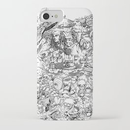 Anime Characters Doodle iPhone Case