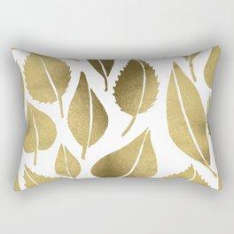 Cascading Leaves – Gold Palette Rectangular Pillow