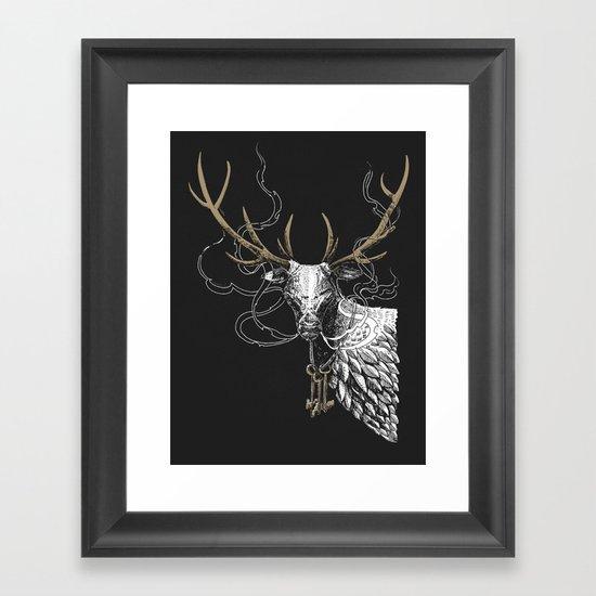 Oh Deer! Light version Framed Art Print