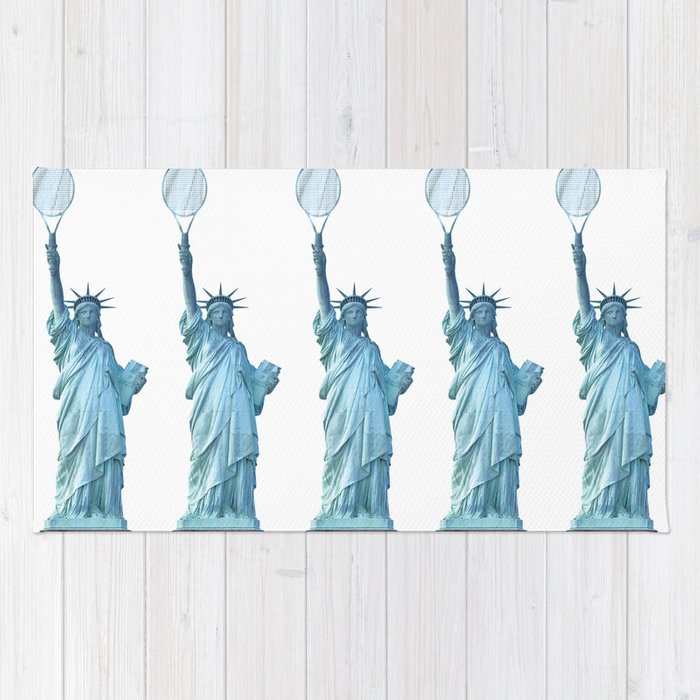 Statue of Liberty with Tennis Racquet Rug