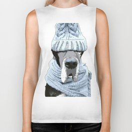 Great Dane Winter is Here Biker Tank