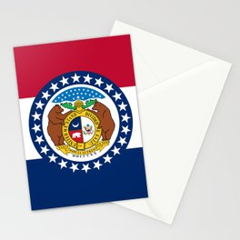 Missouri State Flag Stationery Cards