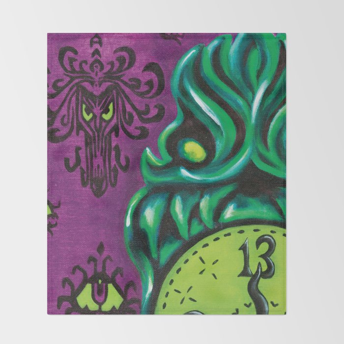 Disneyland Haunted Mansion Inspired WallToWall Creeps No40 Throw Cool Haunted Mansion Throw Blanket