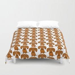 Shorthaired Dachshund Cartoon Dog Duvet Cover
