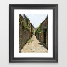 Arezzo Alley Framed Art Print
