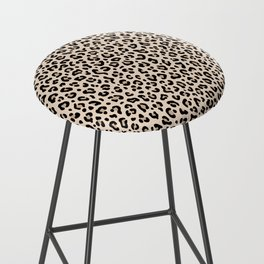 BLACK and WHITE LEOPARD PRINT – Ecru | Collection : Leopard spots – Punk Rock Animal Prints. Bar Stool