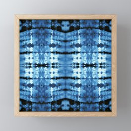 Indigo Satin Shibori Framed Mini Art Print