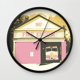Vintage Fire Station Wall Clock