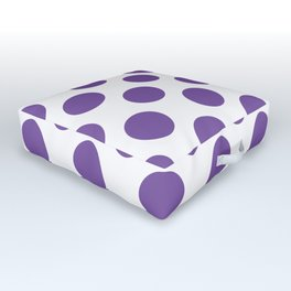 Purple Large Polka Dots Pattern Outdoor Floor Cushion