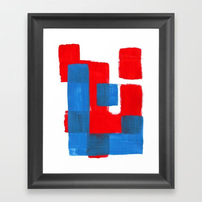 Mid Century Modern Art Red