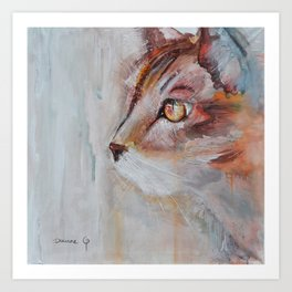 Le chat (the cat) Art Print