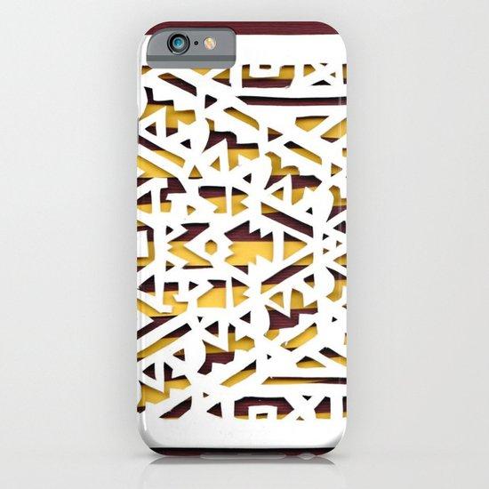 Aztec Pattern Papercut iPhone & iPod Case