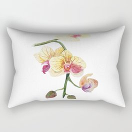 Hand drawn watercolor pretty orchidea Rectangular Pillow