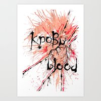 blood Art Prints featuring Blood by OnaElena