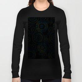 Authentic Aboriginal Art - Circles Long Sleeve T-shirt