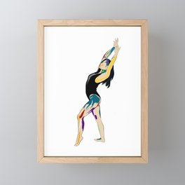 feeling free Framed Mini Art Print