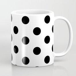 White & Black Polka Dots Coffee Mug