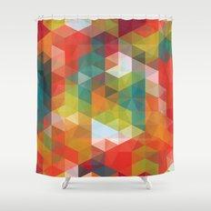 Transparent Cubism Shower Curtain