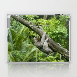 Three-toed sloth climbing tree Laptop & iPad Skin