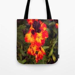 Wallflowers in the Garden  Tote Bag